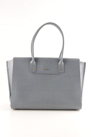 Furla Handtasche hellblau-goldfarben Business-Look