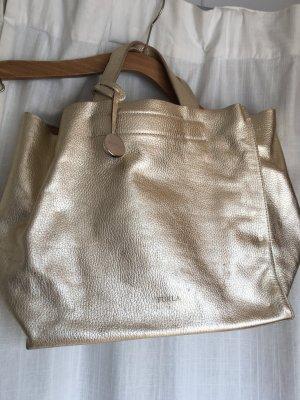 furla handtasche kleiner shopper gold