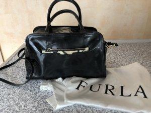 FURLA Handtasche Lack Leder schwarz