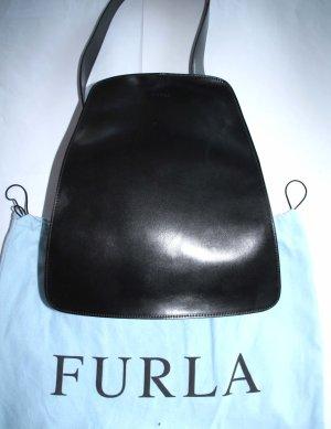 Furla Handtasche Leder schwarz