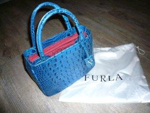 Furla Handtasche mit Krokoprägung