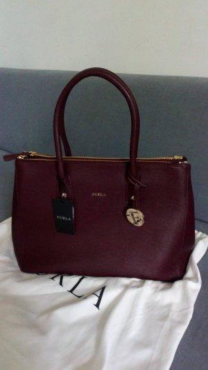 FURLA Handtasche, Modell Linda, Echtleder, absolut neuwertig