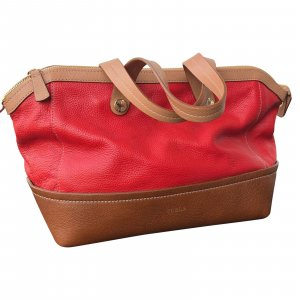 FURLA Handtasche rot/braun