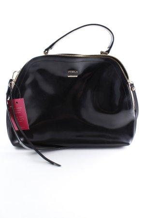 Furla Handtasche schwarz-goldfarben Elegant