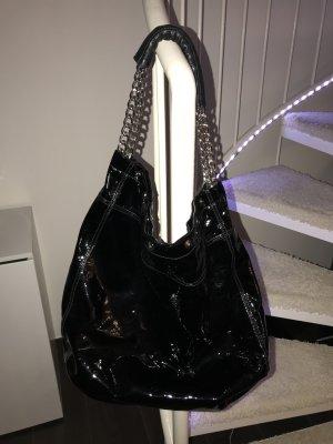 Furla Handtasche Schwarz Lack