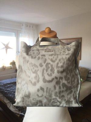 Furla Handtasche weiches Leder Grautöne wie neu
