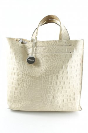 Furla Carry Bag cream animal pattern reptile print