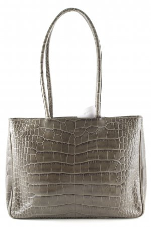 Furla Carry Bag green grey animal pattern reptile print