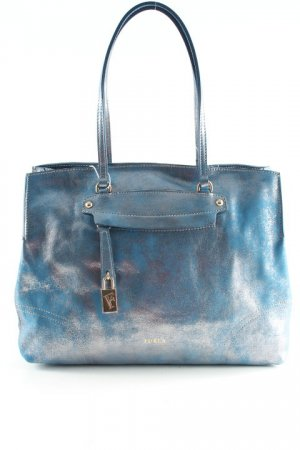 Furla Borsa con manico blu fiordaliso-argento stile casual