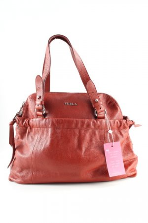 Furla Henkeltasche rostrot Business-Look