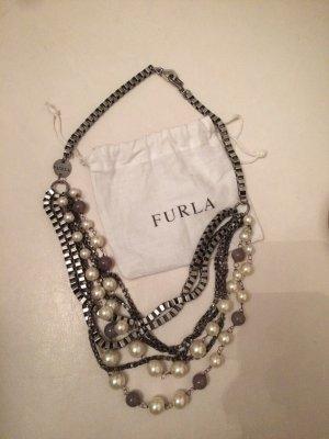 Furla Statement Necklace silver-colored-white