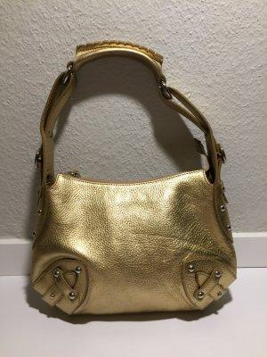FURLA kleine goldene Leder-Tasche - Metallic