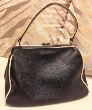 * FURLA * Kleine Leder Handtasche schwarz weiss