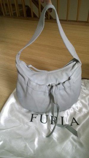 Furla kleine Leder Tasche, blau-grau