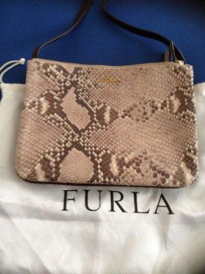 Furla kleine Tasche / Leder mit Python Prägung /