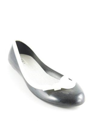Furla Lackballerinas schwarz-hellbeige extravaganter Stil