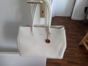 Furla Bolso barrel blanco