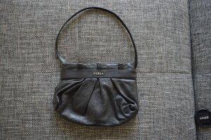 FURLA Lederclutch / Pochette schwarz