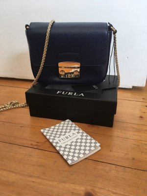 FURLA Metropolis Mini Crossbody XS - Pocket Format - Navy blau