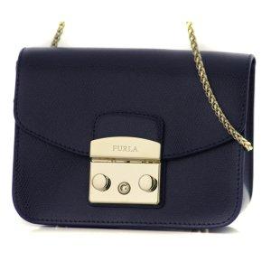 FURLA Metropolis Shoulder Bag navy blue