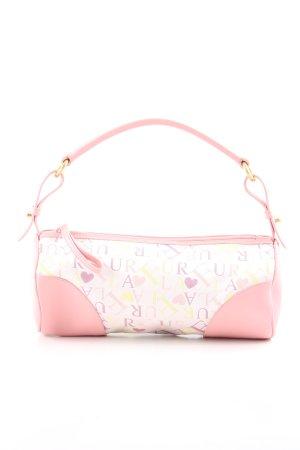 Furla Minitasche pink-weiß Schriftzug gedruckt Casual-Look
