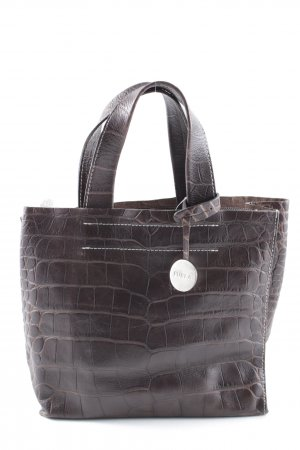 Furla Mini Bag dark brown animal pattern animal print