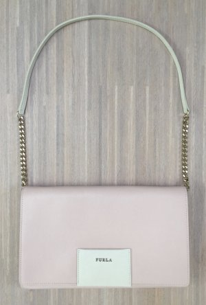 Furla Pochette pink-oatmeal leather