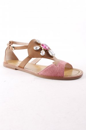 Furla Strapped Sandals brown-pink Boho look