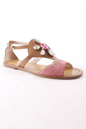 Furla Riemchen-Sandalen braun-rosa Boho-Look