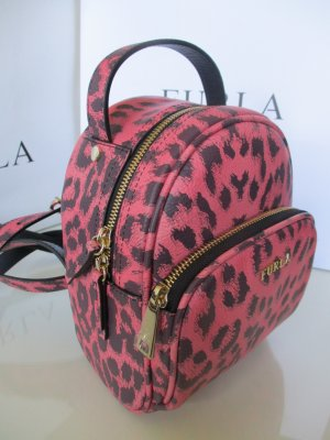 Furla Kindergarden Backpack pink-black leather