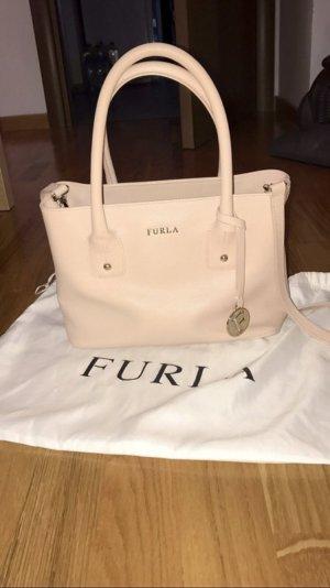 FURLA Sand Leather Medium Serena Tote