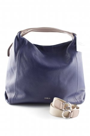 Furla Shopper beige-dunkelblau Casual-Look