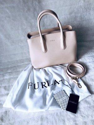 Furla *Small Satchel Leather* kleine Tasche Handtasche Umhängetasche Beige Nude Leder Original