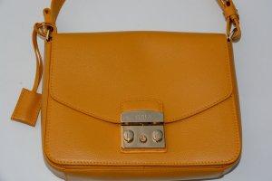 Furla Carry Bag dark yellow leather