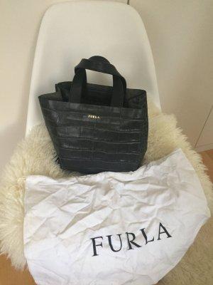 Furla Tasche Echtleder Leder Kroko Blogger Mini bag Clutch