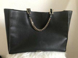 Furla Tasche groß , schwarz, Safianoleder