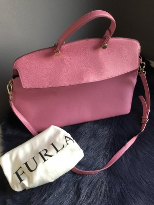Furla Carry Bag pink leather