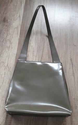 Furla Tasche Schlamm Khaki Glanz Handtasche Bag