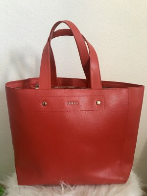 Furla Shopper neon orange leather