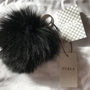 Furla Key Chain black-gold-colored
