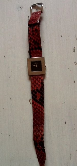 Furla Watch With Leather Strap black-pink leather