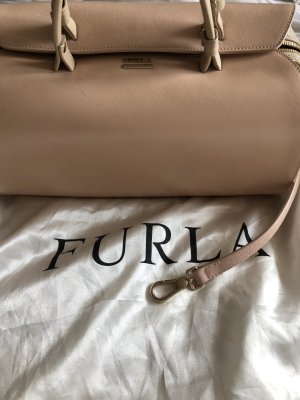 Furla Bowling Bag pink-cream leather