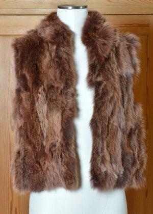 FURRY wunderschöne leichte Fellweste Pelzweste rotbraun Grisfuchs Fuchsfell Echtfell