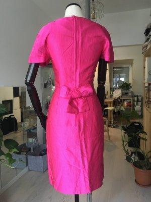 Fushia Vintage Kleid mit Schleife von Hinten