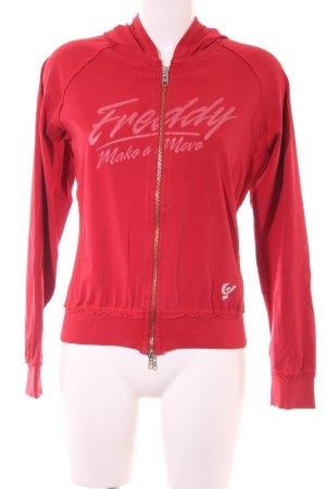 Fusion Kapuzensweatshirt rot Motivdruck Casual-Look