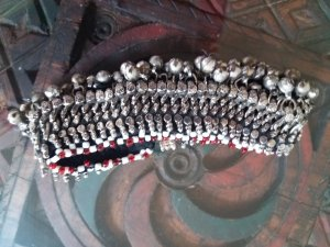 Anklet silver-colored-red