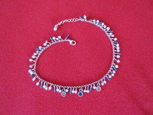 Fußkettchen - Perlen & Straßsteinchen