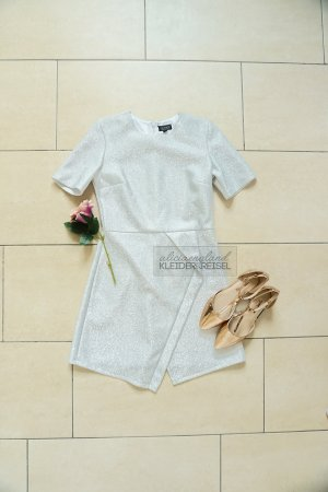 Topshop Dress silver-colored-light grey