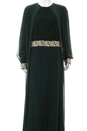 FY Abendkleid dunkelgrün-goldfarben Elegant