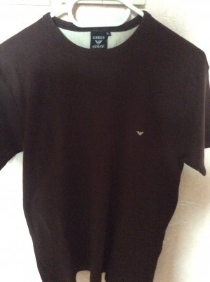 Armani T-Shirt bronze-colored cotton
